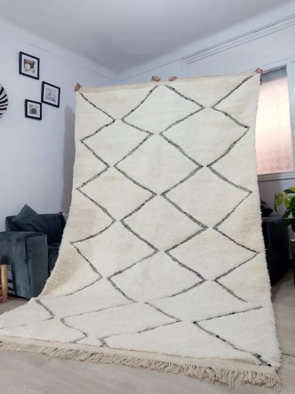 Moroccan carpet - Beni Ourain Style - Tribal Rug  - Full Wool - 336 X 196cm
