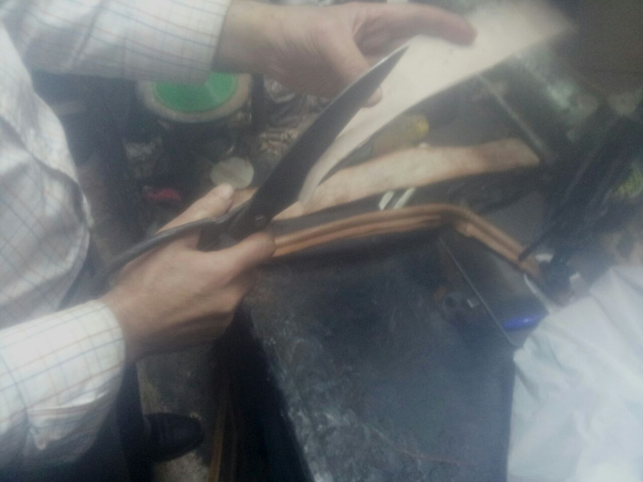 3 – The first phase of cutting – is general cutting is just to perpare leather for dyeing .